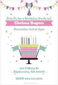 Celebration Cake Party Invitation Personalized Party Invites