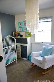 ... Retro nursery in a tiny living space. Love.