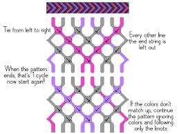 Friendship Bracelet Patterns Delectable Friendship Bracelets How To Read Patterns And Knots Skinny Rist