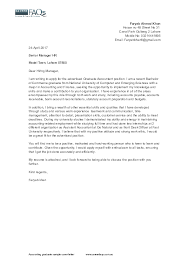 Doc Accounting Graduate Sample Cover Letter Www Faryab
