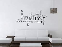family words wall sticker word art