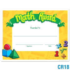 Certificate Template For Kids Math Certificate Templates Free Math