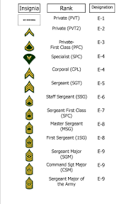 Army Nco Ranks Chart Enlisted Rank Chart We Teach You All This In Army Family