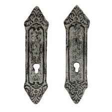 cast iron rustic decorative key in lock wall mount hooks 2 pack in