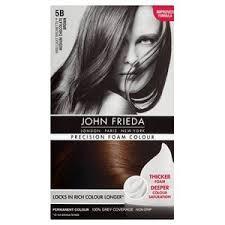 John Frieda Precision Foam Color Chart John Frieda Precision Foam Medium Chocolate Brown 5b