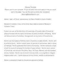 Free Online Obituary Template Free Printable Obituary Templates Free