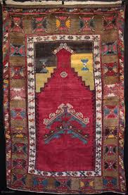 Unusual type of Anatolian prayer rug from Sivas with double floating prayer  arches in the mirhab