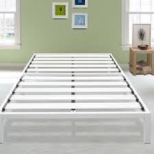 Latitude Run Hukill White Metal Platform Bed Frame Reviews Wayfair
