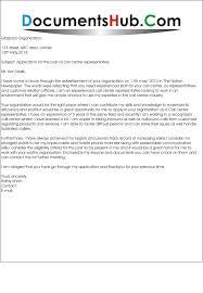 Job Application Letter For Call Center Agent