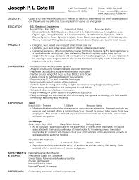 Resume Objective Examples Electrical Engineering Resume Ixiplay