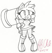 Small Picture Amy Rose Coloring Pages Coloring Coloring Pages