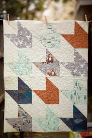 Hello Bear, Modern baby quilt, Baby Quilt, Woodlands Baby Bedding ... & Baby quilt patterns Adamdwight.com