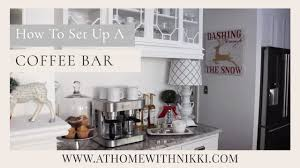 coffee bar. HOME ORGANIZATION: How To Set Up A Home Coffee Bar E