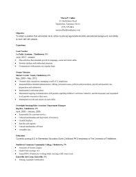 Resume Samples For Preschool Teacher Fresh Teaching Resume Sample