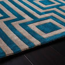 geo blue geometric rug by rug guru 2