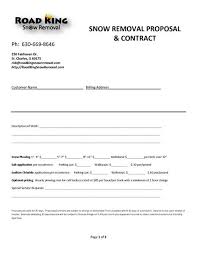 Snow Removal Bid Template Snow Plow Contract Snow Removal Contract Snow Plow Templates