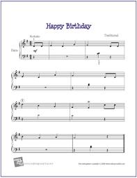 Happy Birthday Free Beginner Piano Sheet Music Makingmusicfun Net