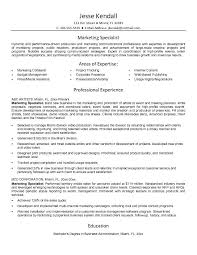 Marketing specialist resume for a job resume of your resume 1