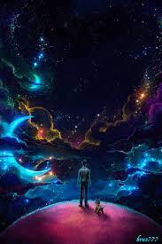 Llegó la LUZ y reino el Silencio miré al CIELO y brillaron mil ESTRELLAS,  cada una era mi espera y entr… | Psychedelic art, Producción artística,  Arte fantástico