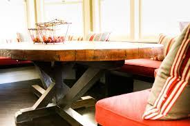 round butcher block kitchen table