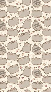 cute cat pattern wallpaper. Exellent Cat Cat Pusheen And Background Image On Cute Cat Pattern Wallpaper T