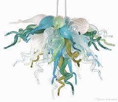 aqua chandelier and red chandelier shades plus aqua creations