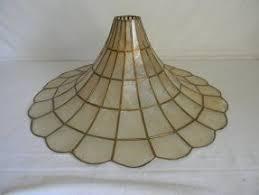 Vintage mid century capiz shell lamp shade by austinmetroretro 29