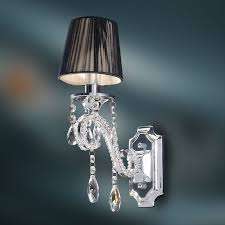 crystal wall lamp k9 crystal chandelier wall sconce polished chrome finish 640265216763