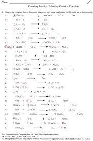 balancing chemical equations multiple choice test doc tessshlo