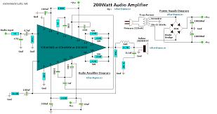 w audio amplifier electronics lab 200w audio amplifier