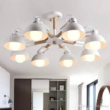american simple living room chandelier creative restaurant iron chandelier vogue bar solid wood lamps modern led pendant lights kitchen island lighting