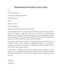 Sample Cover Letter For Administrative Assistant Administrative Assistant Sample Cover Letter 12 Contesting