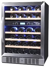 newair wine cooler reviews. Plain Cooler NewAir  46Bottle Wine Cooler Stainless Steel Larger Front On Newair Reviews