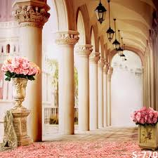 Wedding Photo Background Romantic Corridor 10ft X 10ft Backdrop Computer Printed