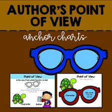 Author S Point Of View Anchor Chart Authors Point Of View Anchor Charts