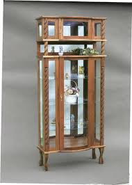 antique curved glass curio cabinet value compact rounded glass curio cabinet antique curved glass curio in