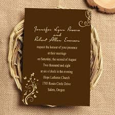 Trippingly Dancing Butterflies Wedding Invitation p IWI043 brown and gold wedding invitations invitesweddings com on wedding invitations brown and gold