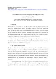 Short Term Professional Goals Pdf Research Statement Long Term And Short Term Research Goals