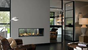 double sided electric fireplace contemporary gas closed