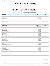 Projected Profit And Loss Pro Forma Profit And Loss Template Gulflifa Co