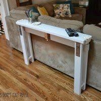 narrow sofa table. DIY Sofa Table From 2x4s Narrow