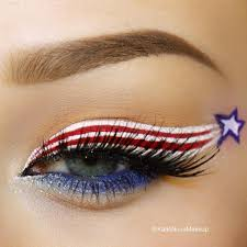 happy july 4th 4th of july inspired patriotic eye makeup look holiday makeup red white and blue
