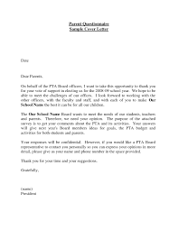 Stunning Cover Letter Examples Questionnaires On Cover Letter For