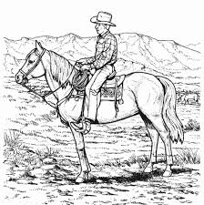 Cowboy Riding Horse Coloring Page Animal Coloring Pages Animal