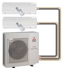 split air conditioning system. ductless mini split in a sarasota home air conditioning system