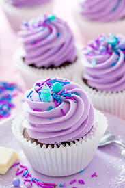 pretty purple cupcake. Contemporary Purple White Chocolate Filled Cupcakes In Pretty Purple Cupcake D