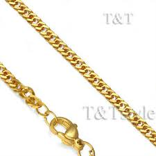 Gold Chain Width Size Chart Details About T T 14k Gold Gp 3mm Stainless Steel Curb Chain Necklace C106