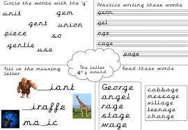 Phonics is obviously an important early developmental skill for children to start learning and our worksheets can help kids learn phonics. Phonics Worksheet G J Sound Teaching Resources