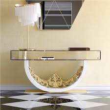 unique gold and glass console table tables what retro hallway furniture sideboard silver waterfall small hall wood black sofa chrome long modern entrance