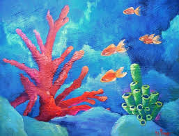 c reef painting tropical painting fish painting textured art 20x24x1 5 original oil painting c reefs paint texture and underwater painting